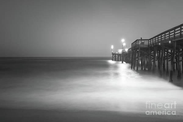 High Definition Photograph - Newport Beach Balboa Pier Black And White Photo by Paul Velgos