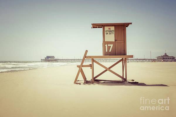 Oceanfront Photograph - Newport Beach Pier And Lifeguard Tower 17 by Paul Velgos