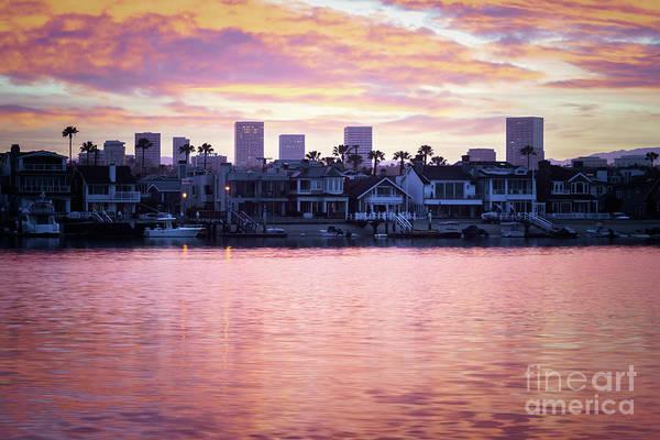 Wall Art - Photograph - Newport Beach Skyline Sunrise Photo by Paul Velgos