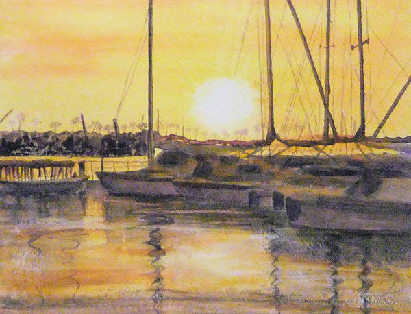 Painting - Newport Beach Sunset by Debbie Lewis