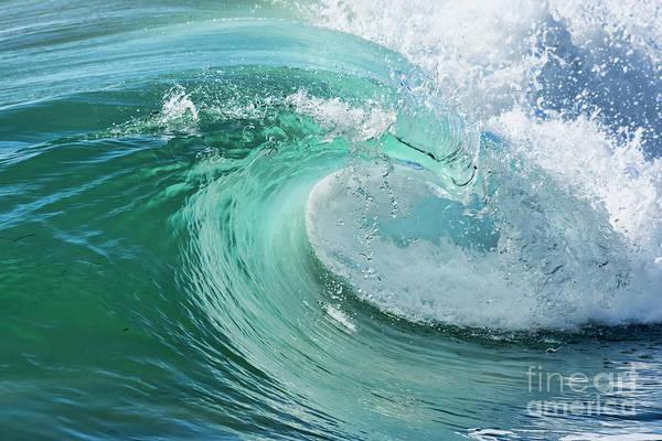 Photograph - Newport Beach Wave Curl by Eddie Yerkish