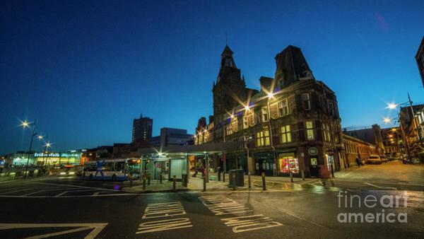 Wall Art - Photograph - Newport Bus Station At Night  by Rob Hawkins