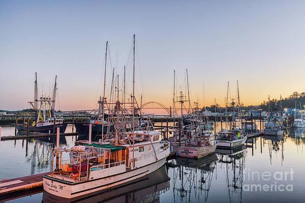 Photograph - Newport Harbor At Dusk by Paul Quinn