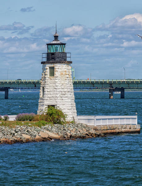 Photograph - Newport Harbor Light by Brian MacLean