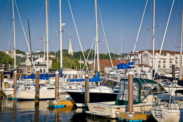 Wall Art - Photograph - Newport Marina by Susan Cole Kelly