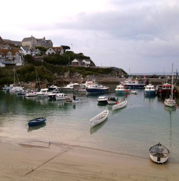 Photograph - Newquay Harbour by Julia Woodman