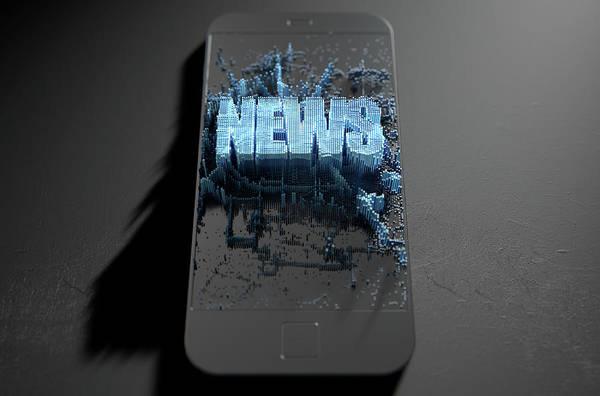 Wall Art - Digital Art - News Cloner Smartphone by Allan Swart