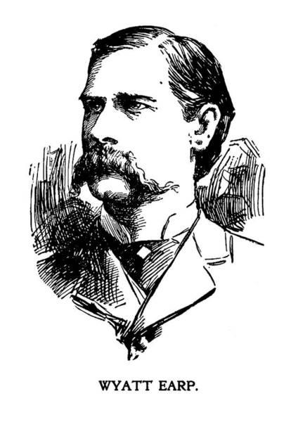 Wall Art - Mixed Media - Newspaper Image Of Wyatt Earp 1896 by Daniel Hagerman