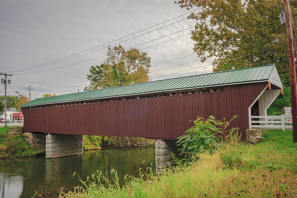 Photograph - Newton Falls Covered Bridge  by Jack R Perry