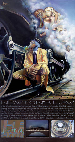 Train Station Painting - Newton's Law by Patrick Anthony Pierson