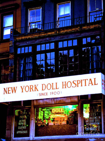 Photograph - New York Doll Hospital Nyc  by Tom Jelen