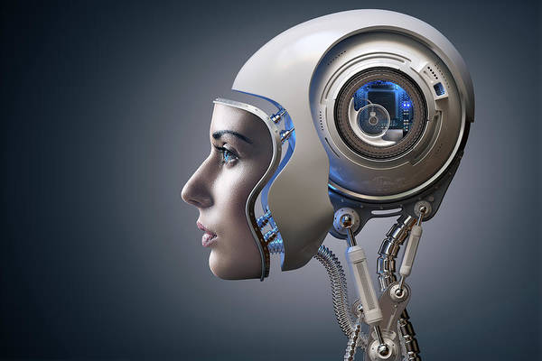 Human Head Photograph - Next Generation Cyborg by Johan Swanepoel