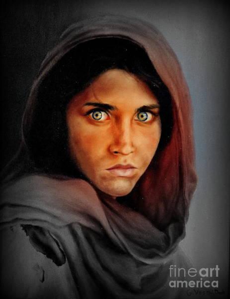 Mixed Media - Afghan Girl 2 by Georgia's Art Brush