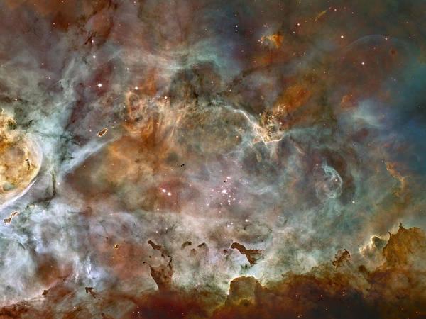 Ngc 3372 Taken By Hubble Space Telescope Art Print