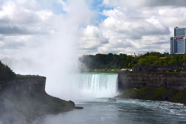 Photograph - Niagara Across The Border by Judy Hall-Folde