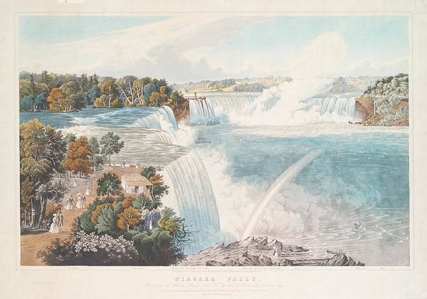 Wall Art - Photograph - Niagara Falls 1845 by Ricky Barnard