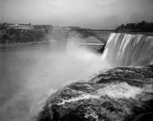 Niagara Falls Photograph - Niagara Falls And Nearby Clifton Hotel - Circa 1900 by War Is Hell Store