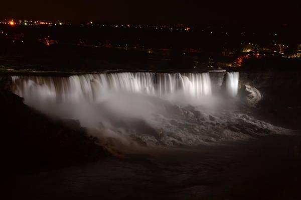 Photograph - Niagara Falls At Night by Bill Cannon