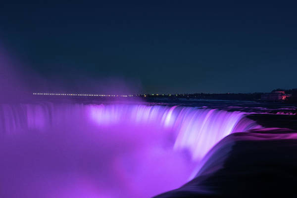 Photograph - Niagara Falls At Night by Jesse MacDonald