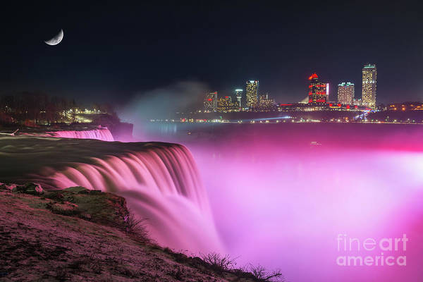 Photograph - Niagara Falls At Night by Michael Ver Sprill