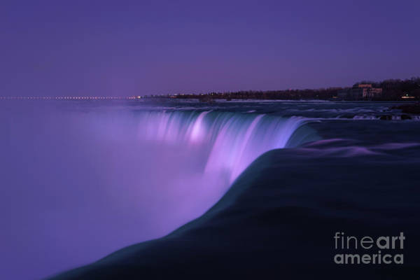 Photograph - Niagara Falls Blues And Purples by Rachel Cohen