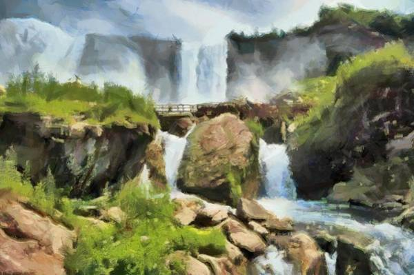Digital Art - Niagara Falls Cave Of The Winds by Charmaine Zoe