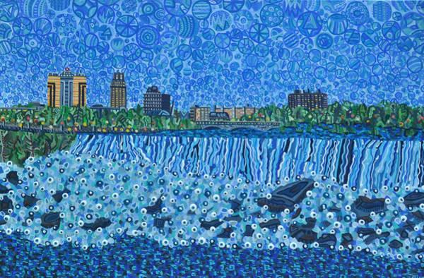 Wall Art - Painting - Niagara Falls - Day by Micah Mullen