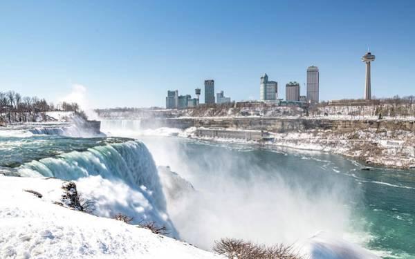 Photograph - Niagara Falls From Ny by Framing Places