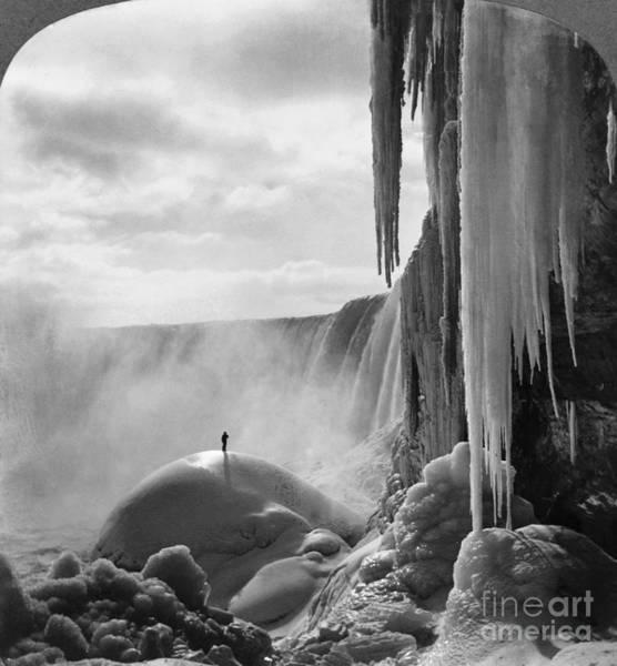 Photograph - Niagara Falls: Frozen by Granger