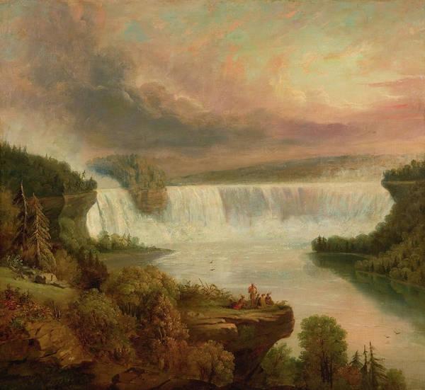 Horseshoes Painting - Niagara Falls, Horseshoe Falls by Frederic Edwin Church
