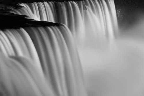 Wall Art - Photograph - Niagara Falls Illuminations Number 2 B  W by Steve Gadomski