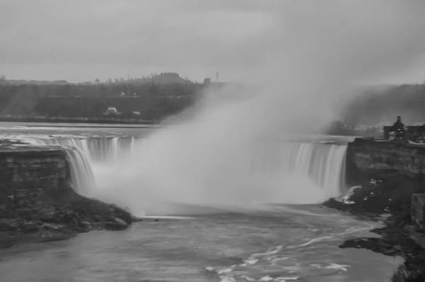 Photograph - Niagara Falls In Black And White by Bill Cannon
