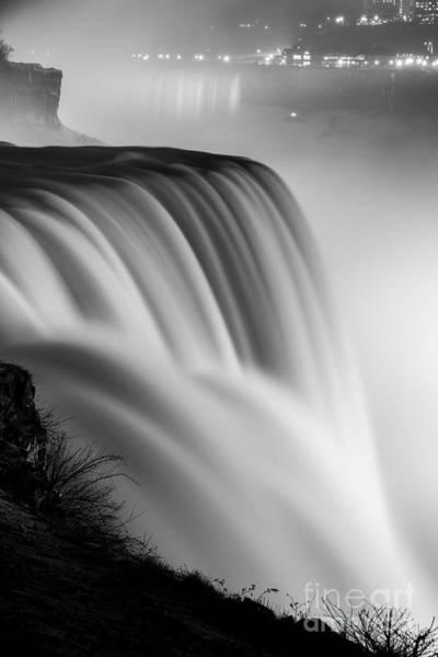 Wall Art - Photograph - Niagara Falls In Motion Bw by Michael Ver Sprill