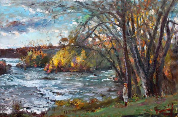 Wall Art - Painting - Niagara Falls Lake by Ylli Haruni