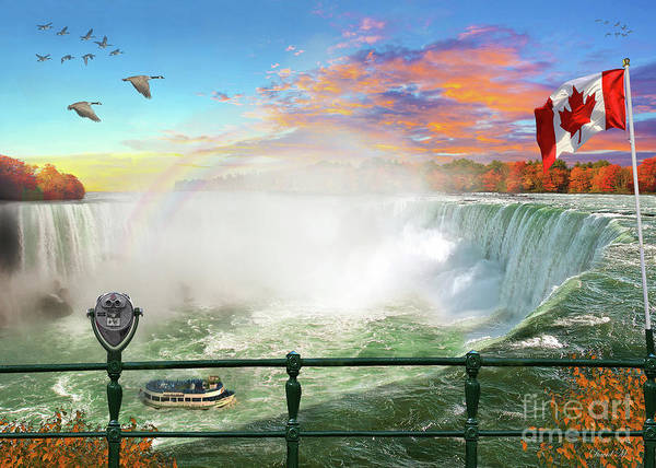 Wall Art - Digital Art - Niagara Falls by MGL Meiklejohn Graphics Licensing