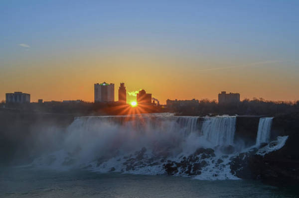 Photograph - Niagara Falls New York At Sunrise by Bill Cannon