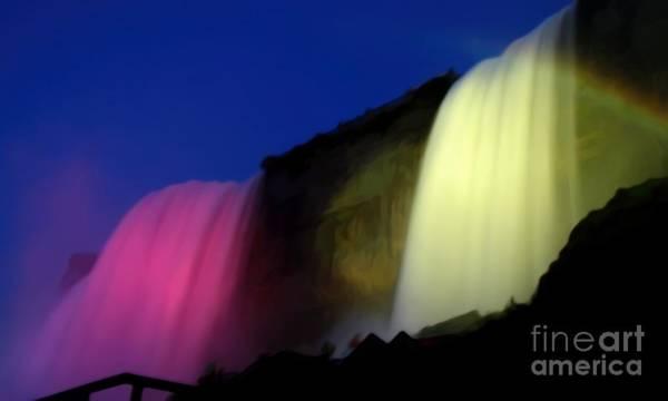 Photograph - Niagara Falls Nightly Illumination by Rose Santuci-Sofranko