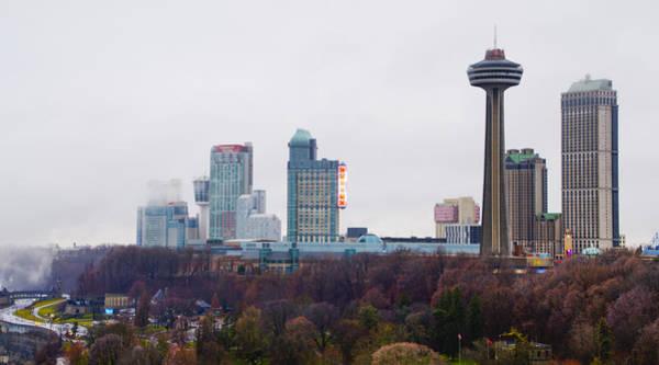 Photograph - Niagara Falls Ontario Skyline by Bill Cannon