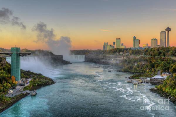 Photograph - Niagara Falls Pre-sunrise IIi by Clarence Holmes