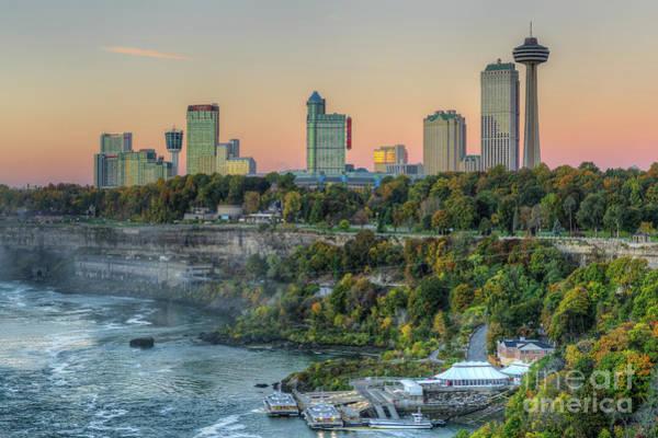 Photograph - Niagara Falls Skyline I by Clarence Holmes