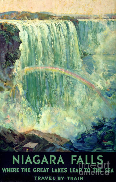 Wall Art - Painting - Niagara Falls Vintage Travel Poster Restored by Vintage Treasure