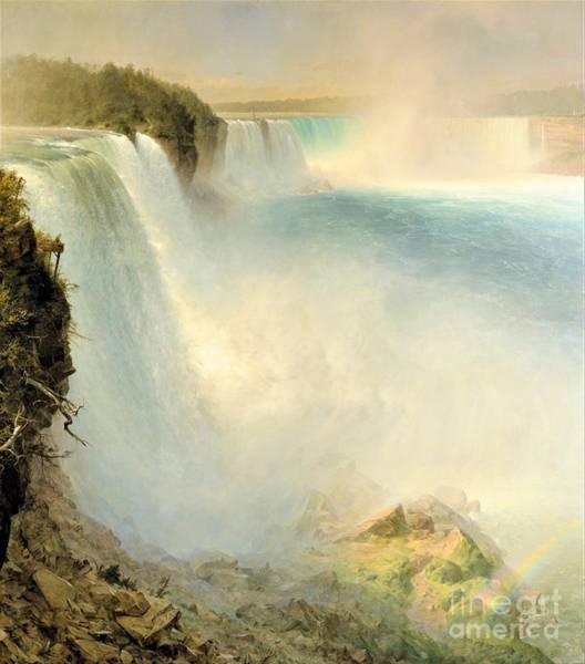 Wall Art - Painting - Niagara From American Side by Pg Reproductions