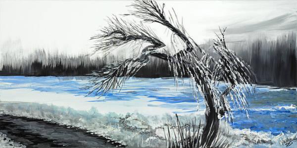 Wall Art - Painting - Niagra Winter by David Junod
