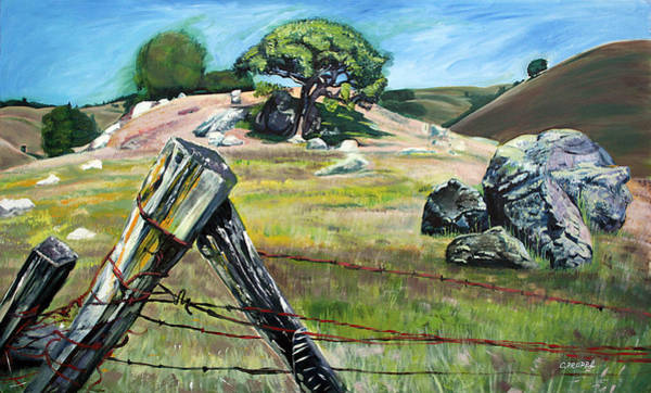 Nicasio Fence Post Art Print by Colleen Proppe