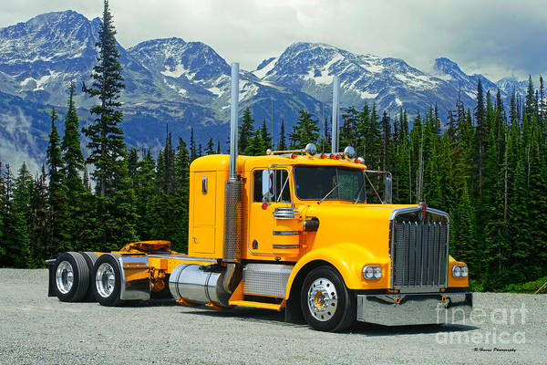 Wall Art - Photograph - Nice All Yellow Kenworth by Randy Harris