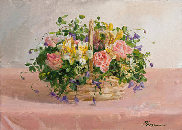 Wall Art - Painting - Nice Basket by Victoria Kharchenko