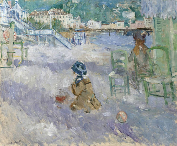 Painting - Nice Beach by Berthe Morisot
