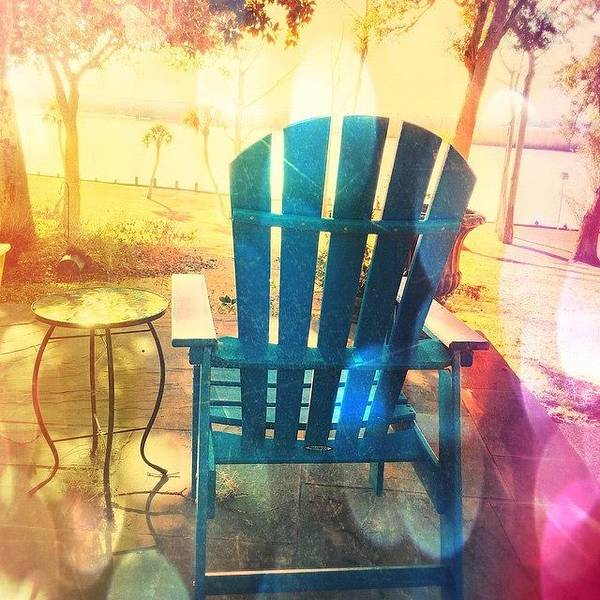 View Photograph - Nice View Of The River #chair #views by Joan McCool