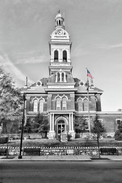Photograph - Nicholasville Kentucky Courthouse Flag by Sharon Popek