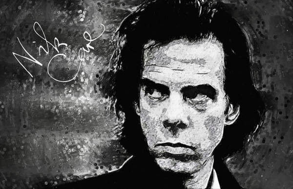 Indie Wall Art - Digital Art - Nick Cave by Zapista Zapista
